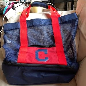 Cleveland Indians Mesh Tote with Cooler